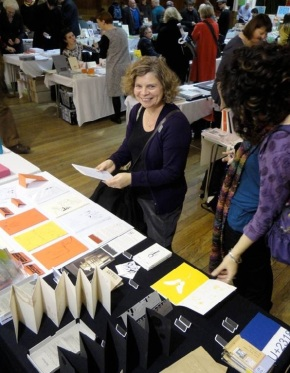 Catherine at small publisher's fair