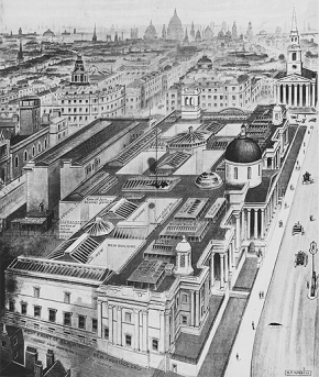 National Gallery buildings, 1910.