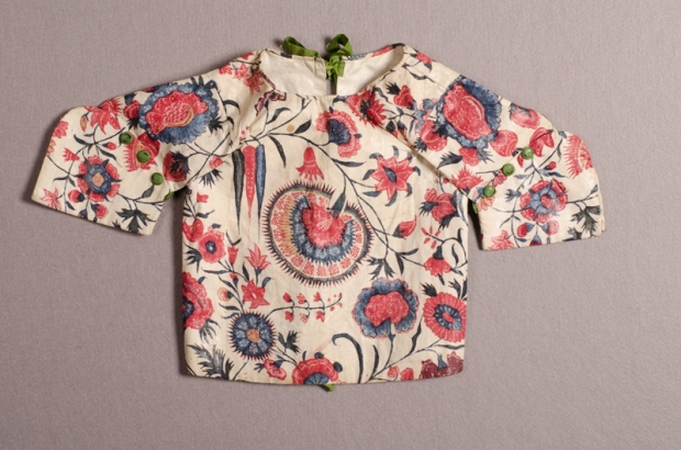 Children's jacket made of chintz, linen and silk, c. 1725-1750. Collection Centraal Museum, Utrecht, The Netherlands. Copyright: Centraal Museum via http://europeanafashion.tumblr.com