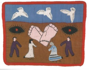 'arpilleras' of scrap fabric from Chile, 1979.