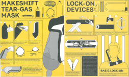 Instructions of how to make a homemade tear-gas mask & a lock on device