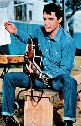 Elvis...the only person to be able to pull off 'Double Denim'!